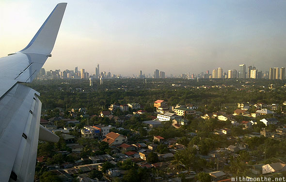 About to land manila international airport