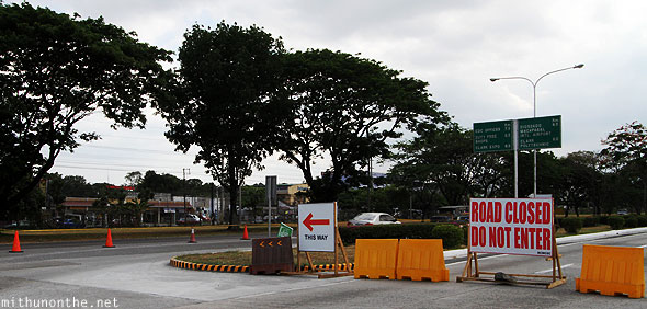 Angeles City Clark road closed Philippines