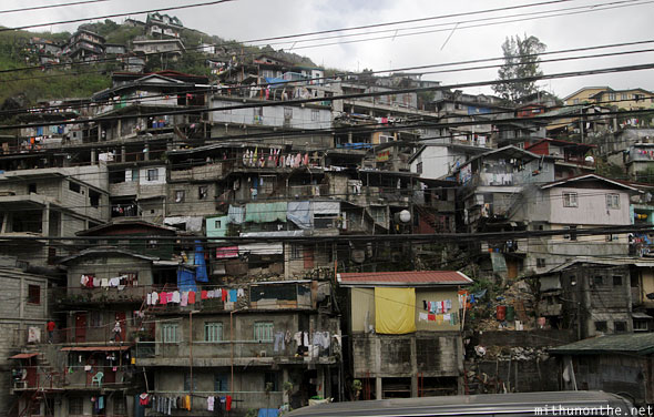 Baguio city shanty homes Philippines