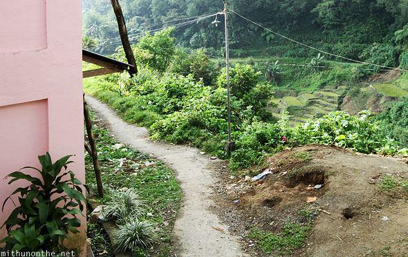 Banaue back alley road