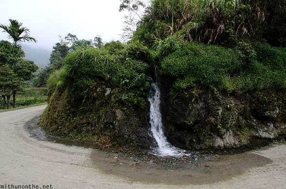 Banaue mini waterfall road to Batad Philippines