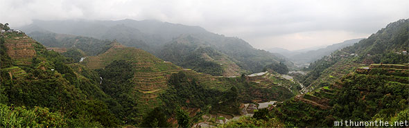 Banaue rice terrace second viewpoint panorama