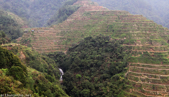 Banaue rice terrace waterfall