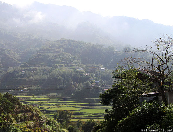 Banaue rice terraces en route to Bontoc morning