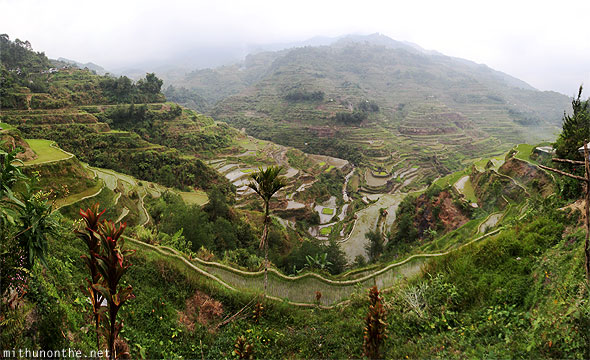 Banaue rice terraces first view panorama