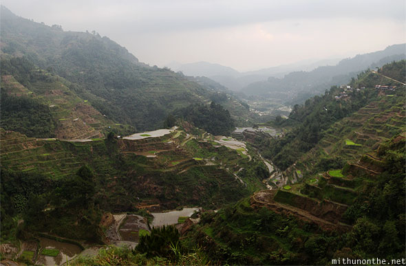 Banaue rice terraces viewpoint middle panorama