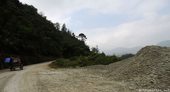 Banaue road to Batad hill Luzon trike
