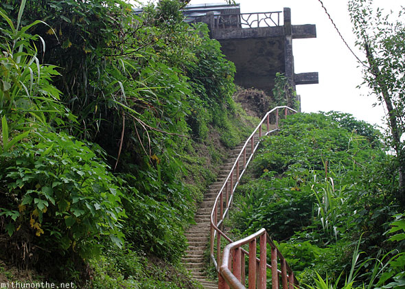 Banaue steps to main viewpoint