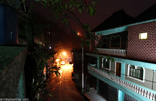 Banaue town at night curfew