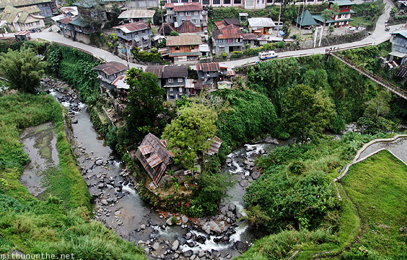 Banaue town river stream view from lodge
