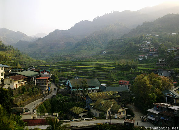 Banaue town view from Greenview restaurant