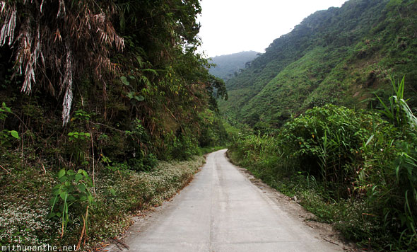 Batad concrete road to viewpoint Banaue