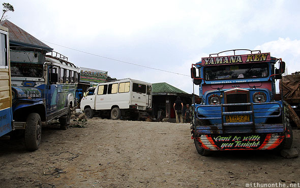 Batad market junction jeepneys Banaue Ifugao Philippines