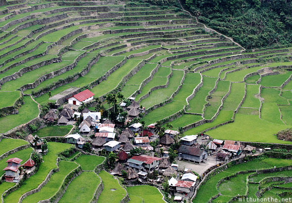 Batad rice terrace village Banaue Philippines