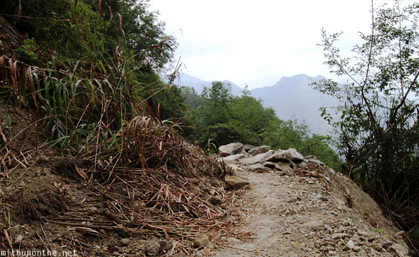Batad trek hill landslide path blocked Banaue