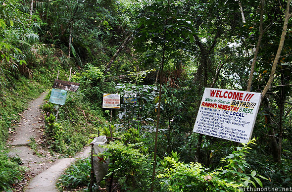 Batad village homestays banners Philippines