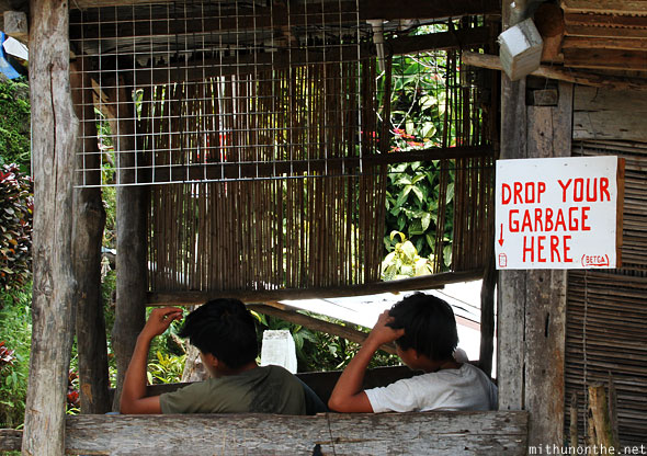 Batad village locals garbage sign