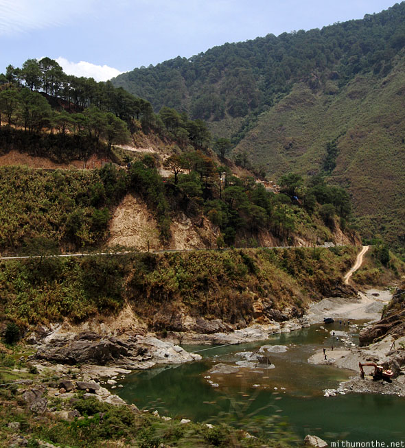 Bontoc to Sagada hill river