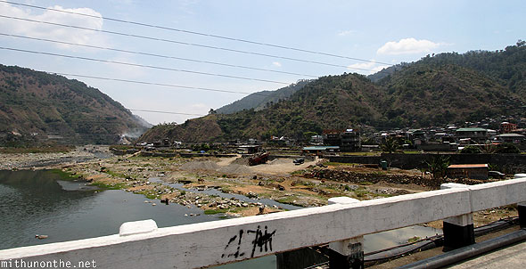 Bridge to Bontoc town Philippines