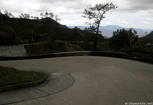 Concrete roads to Baguio city