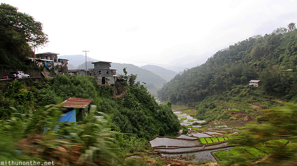 Driving to Batad from Banaue town