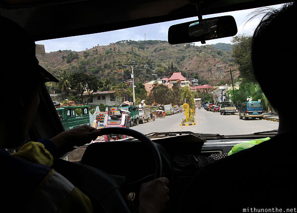 Entering Bontoc town jeepney