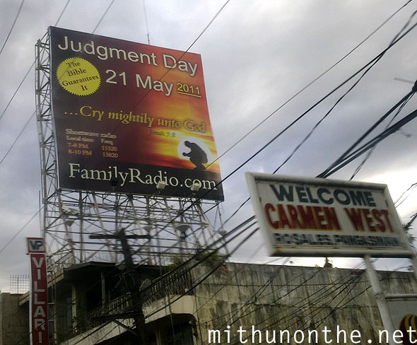 Familyradio.com rapture judgement day billboard ad carmen Philippines