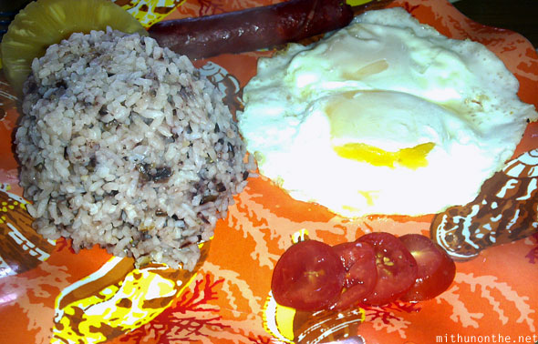 Filipino breakfast Banaue food
