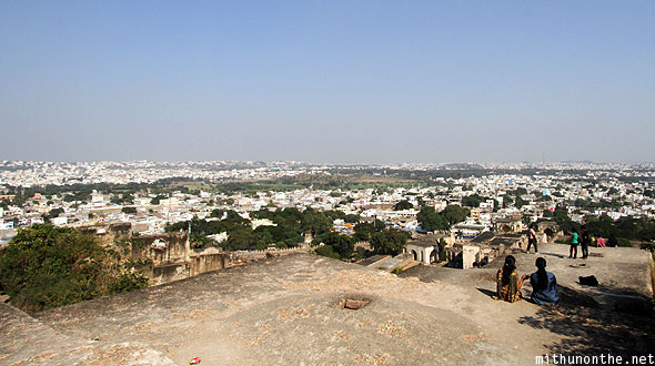 Golconda Fort above Ramdas jail Hyderabad India