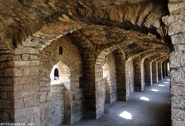 Golconda Fort cavern tunnel windows Hyderabad