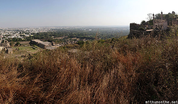 Golkonda Fort high view Hyderabad India