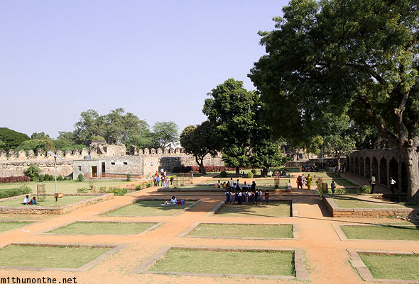 Golconda Fort Nagina Bagh garden Hyderabad India