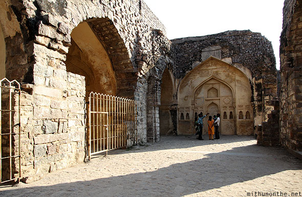 Golconda fort palace ruins Hyderabad