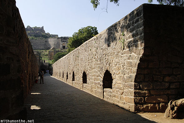 Golconda Fort path Hyderabad India