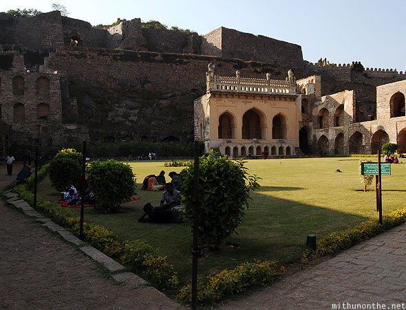 Golconda fort royal palace garden hyderabad