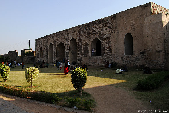 Golconda fort royal palace lawns Hyderabad