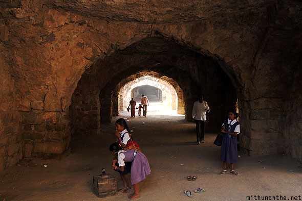 Golconda Fort school kids weight Hyderabad