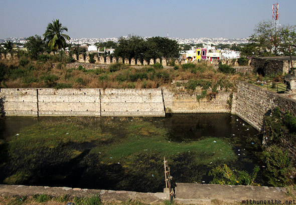 Golconda Fort well Hyderabad India