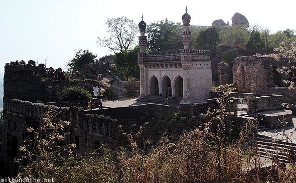 Golkonda fort Ibrahim mosque Hyderabad