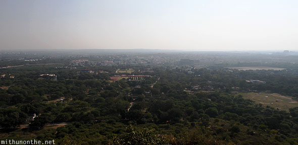 Golkonda fort citadel view Hyderabad