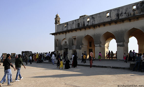 Golkonda fort darbar hall citadel visitors Hyderabad