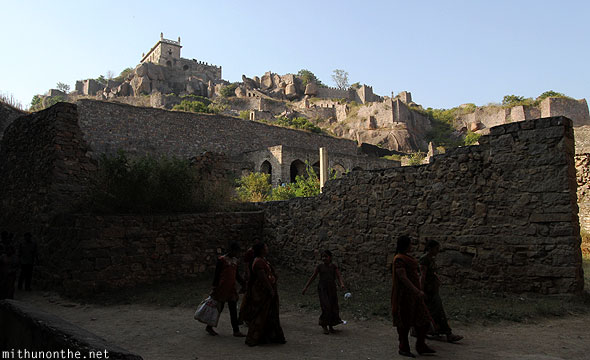 Golkonda fort from down Hyderabad India