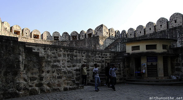 Golkonda fort guards fort entrance Hyderabad