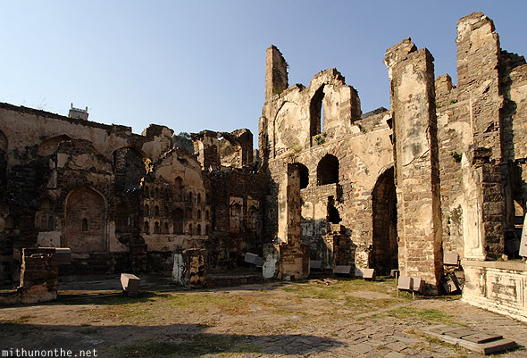 Golkonda fort palace ruins history Hyderabad