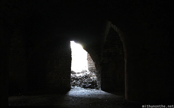 Golkonda fort palace ruins light tunnel Hyderabad