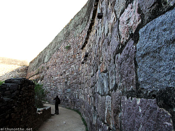 Golkonda fort stone wall Hyderabad