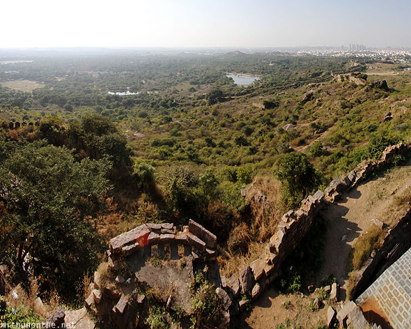 Golkonda fort view Hi-tec city panorama Hyderabad