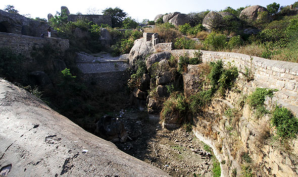 Golkonda fort way to citadel Hyderabad