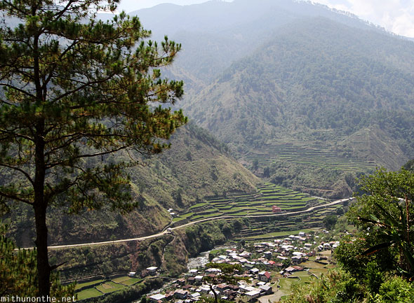 Ifugao rice terrace hills morning ride to Bontoc