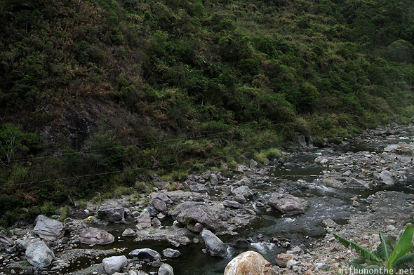 Ifugao rocky river luzon Philippines